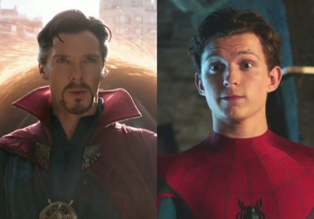 """Benedict Cumberbatch em """"Vingadores: Ultimato"""" e Tom Holland em """"Homem-Aranha 2"""" (Reprodução)"""