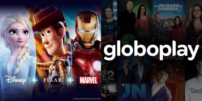 Assinatura conjunta do Disney+ e da GloboPlay terá valor com desconto (imagens de Divulgação)