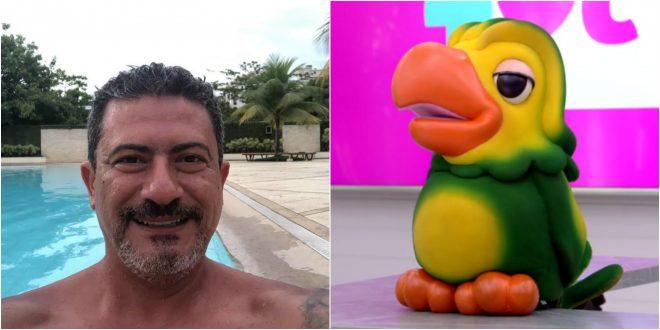 """Tom Veiga em foto no Facebook (Reprodução) e Louro José no """"Mais Você"""" (Reprodução)"""