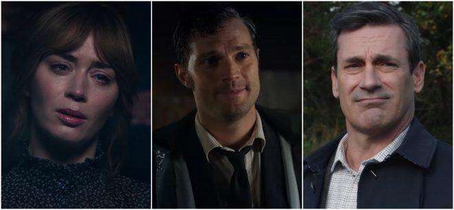 """Emily Blunt, Jamie Dornan e Jon Hamm em trailer de """"Wild Mountain Thyme"""" (Reprodução)"""