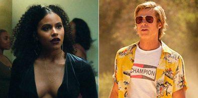 """Zazie Beetz em """"Atlanta"""" e Brad Pitt em """"Era Uma Vez... Em Hollywood"""" (Reprodução)"""