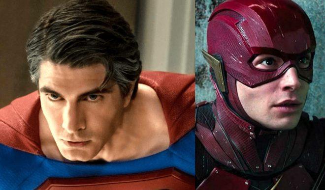 """Brandon Routh em """"Superman - O Retorno""""/Ezra Miller como Flash (Reprodução)"""