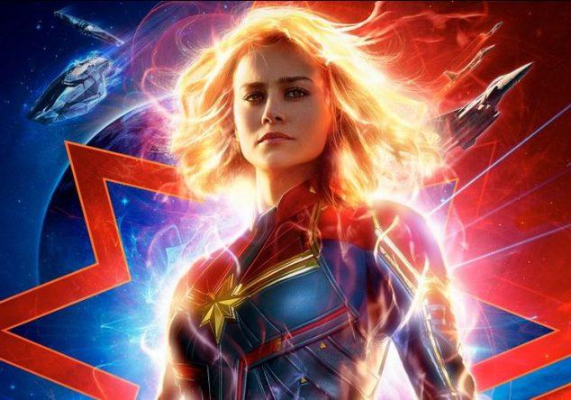"""Brie Larson como """"Capitã Marvel"""" em poster de divulgação do filme ( Divulgação)"""