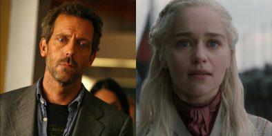 """Hugh Laurie em """"House""""/Emilia Clarke em """"Game of Thrones"""" (Reprodução)"""