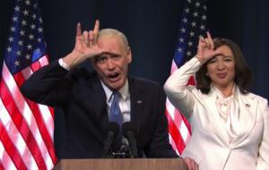 Jim Carrey e Maya Rudolph arrasam em imitação de Joe Biden e Kamala Harris no SNL