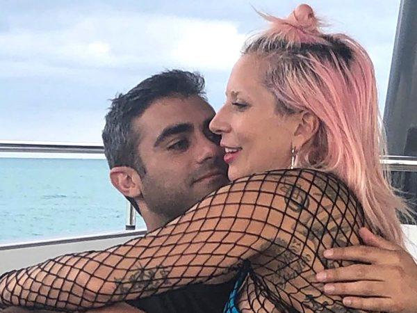 Michael Polansky e Lady Gaga em foto publicada no Instagram (Reprodução)