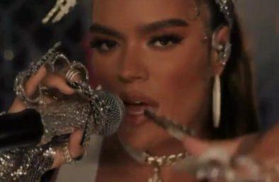 Na premiação, ela ganhou o prêmio de Melhor Artista Latino (Reprodução)