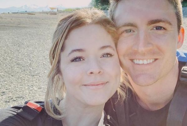 Sasha Pieterse e Hudson Sheaffer em foto publicada no Instagram (Reprodução)