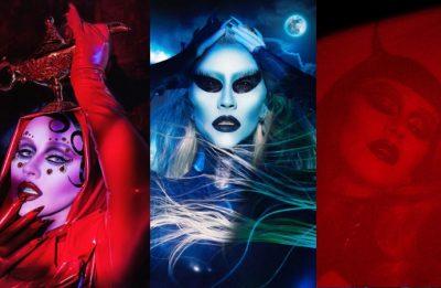 Fotos publicadas por Aguilera no Instagram (Reprodução)
