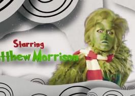Primeiro teaser mostra Matthew Morrison como Grinch em adaptação de musical