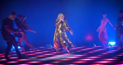 Kylie Minogue em vídeo postado no Twitter (Reprodução)