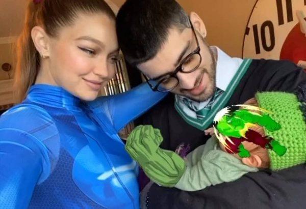 Gigi Hadid e Zayn Malik em foto publicada no Instagram (Reprodução)