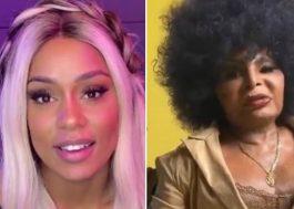 """Já viu? MC Rebecca posta vídeo com vários artistas para anunciar """"A Coisa Tá Preta"""", parceria com Elza Soares"""