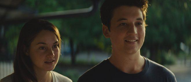 """Shailene Woodley e Miles Teller atuaram juntos em """"O Maravilhoso Agora"""" (Reprodução)"""
