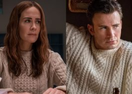 """Sarah Paulson compara look ao de Chris Evans: """"Quem vestiu melhor?"""""""
