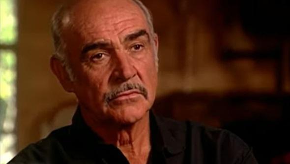 Sean Connery em entrevista (Reprodução)