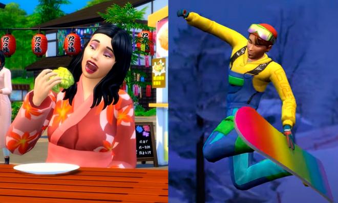 """Imagens promocionais de """"The Sims 4: Diversão na Neve"""" (Divulgação)"""