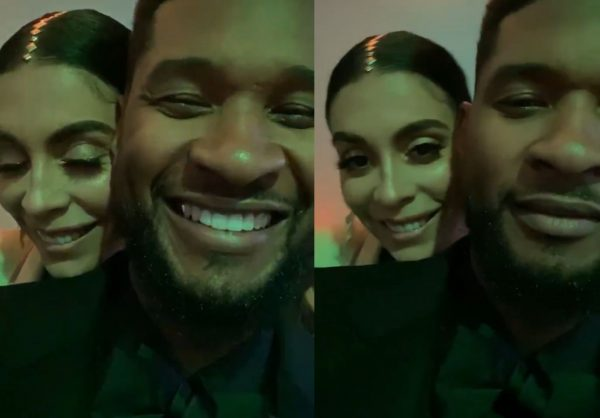Usher e Jenn Goicoechea em vídeo publicado no Instagram (Reprodução)