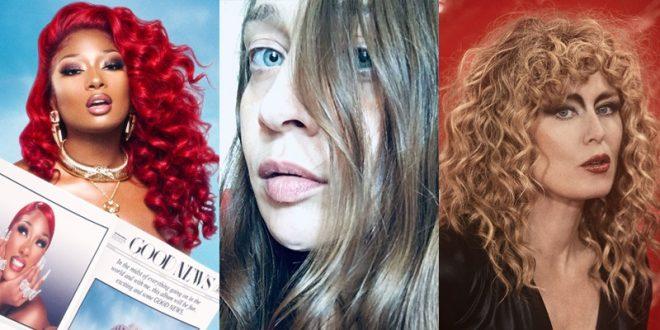 Entre as estreias estão Megan Thee Stallion (1), Fiona Apple (2) e Roísín Murphy (3) (Foto: Divulgação)