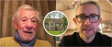 Ian McKellen e Martin Freeman em vídeo de apoio ao projeto (Reprodução)