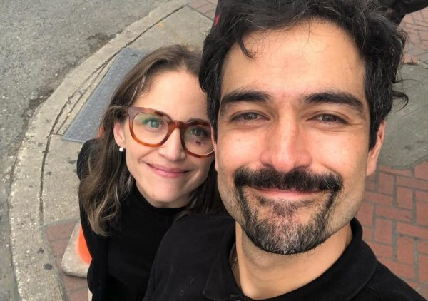 Diana Vázquez e Alfonso Herrera em foto publicada no Instagram (Reprodução)
