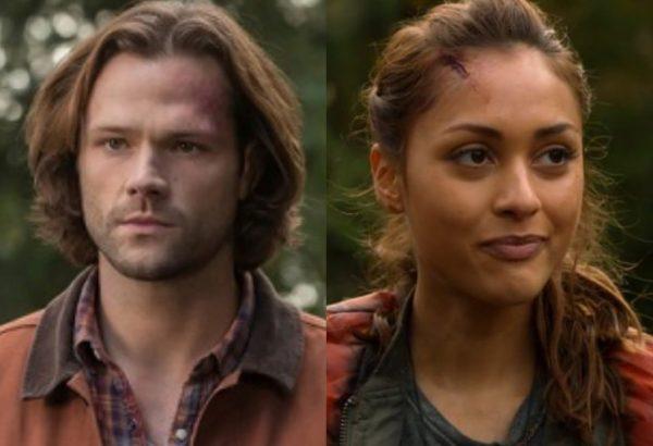"""Jared Padalecki em """"Supernatural"""" e Lindsey Morgan em """"The 100"""" (Reprodução)"""