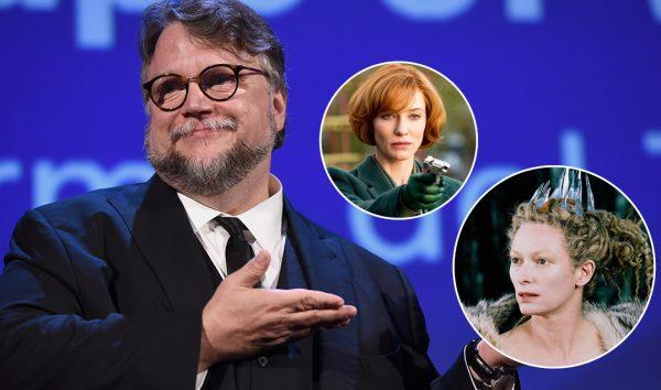 Guillermo del Toro em evento, Cate Blanchett e Tilda Swinton em filmes (Reprodução)