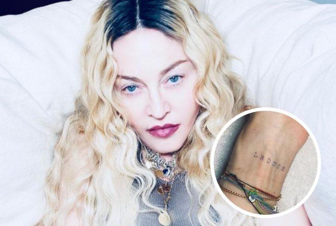 Ela tatuou as iniciais de Lourdes, Rocco, David, Mercy, Stelle e Estere (Reprodução)
