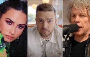 Demi Lovato, Justin Timberlake e Jon Bon Jovi se apresentam na posse de Joe Biden, em 20 de janeiro