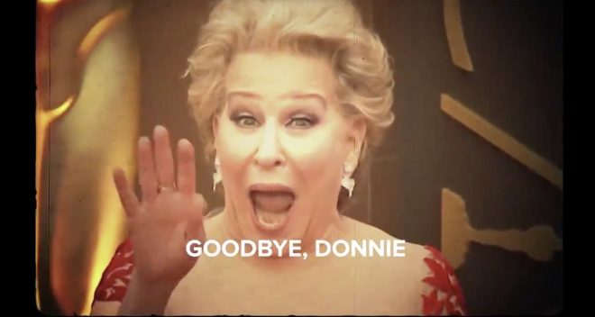 "Bette Midler canta ""Goodbye Donnie"" em vídeo (Reprodução)"