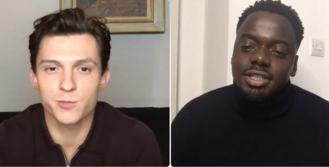 Daniel Kaluuya entrevistando Tom Holland para a Variety (Reprodução)