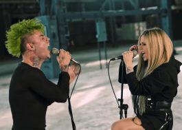 "MOD SUNeAvril Lavigne cantam sobre amor intenso no clipe de ""Flames"""