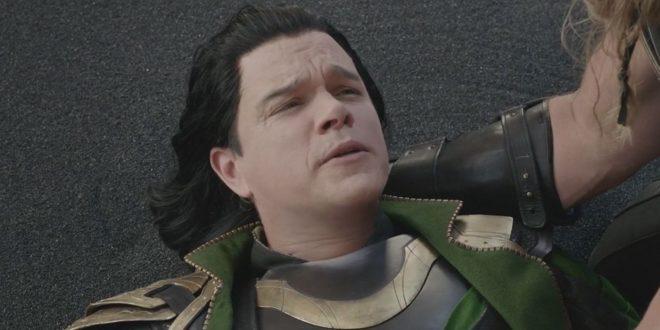 """Em """"Thor: Ragnarok"""", Damon viveu um ator que interpretava Loki em uma peça (Reprodução)"""