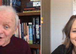 """""""O Silêncio dos Inocentes"""": Anthony Hopkins e Jodie Foster se reunem em chamada virtual"""