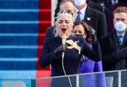 Lady Gaga na posse de Joe Biden!
