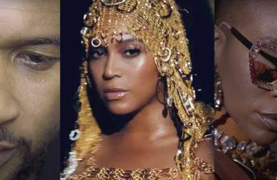Usher, Beyoncé e Karol Conká fizeram músicas para o movimento (Fotos: Reprodução)