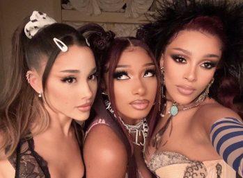 """Elas lançaram um remix de """"34+35"""" em janeiro (Reprodução)"""
