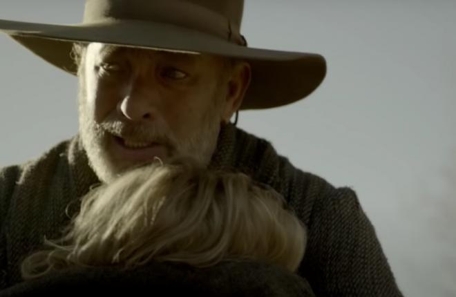 Tom Hanks interpreta o veterano de guerra Kidd (Reprodução/YouTube)