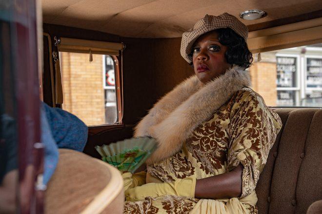 No filme, a atriz interpreta a cantora de blues Ma Rainey (David Lee / Netflix / Divulgação)