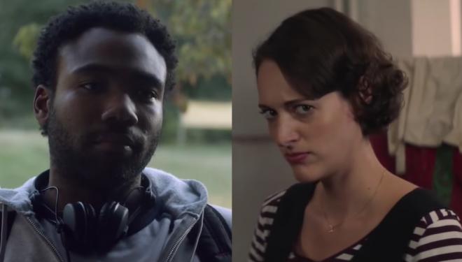 """Os atores são premiados pelas séries """"Atlanta"""" e """"Fleabag"""", respectivamente (Reprodução / Youtube)"""