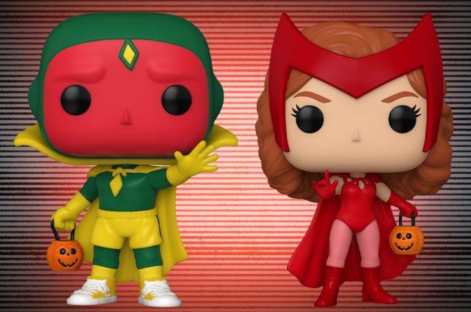 As figuras mostram Wanda e Visão com fantasias de Halloween (Reprodução / Twitter)