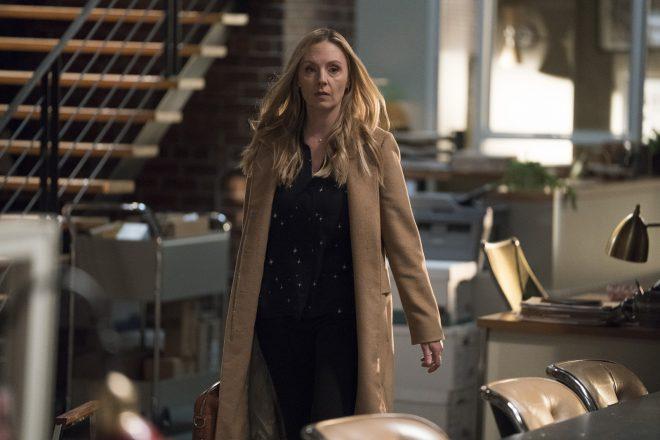A atriz vai interpretar Sandi Furness, filha do grande rival de Logan Roy (ABC / Eric McCandless / Divulgação)