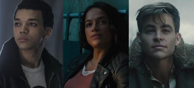 Os três formam o elenco principal do filme (Fotos: Warner Bros. / Divulgação e Reprodução / Youtube)