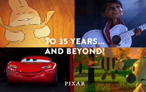 Pixar celebra 35 anos de história em clipe com todas as produções do estúdio