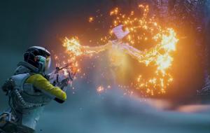 """Selene explora ambientação mutante de Atropos no novo trailer do game """"Returnal"""""""
