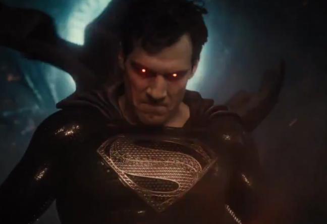 A nova prévia mostra o uniforme preto do Superman (Reprodução / Twitter)