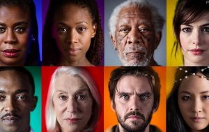 """Com Anne Hathaway, Morgan Freeman e mais: primeira foto do elenco de """"Solos"""" é divulgada"""