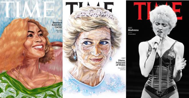 Personalidades como Beyoncé, Princesa Diana e Madonna foram homenageadas pela inciativa (Reprodução)