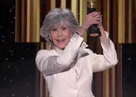 Golden Globes: Jane Fonda é homenageada e faz discurso poderoso sobre o poder das histórias