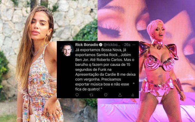 Atração da cerimônia, rapper usou trecho de remix feito pelo brasileiro Pedro Sampaio (Foto: Reprodução/Getty Images)